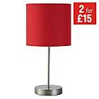 more details on ColourMatch Satin Stick Lamp - Poppy Red.
