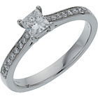 more details on 18ct White Gold 0.50ct Diamond Princess Cut Shoulder Ring.