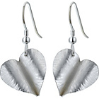 more details on Burkmar Argentium Silver Folded Heart Earrings.