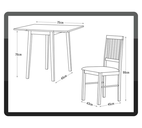 Buy Home Kendall Drop Leaf Ext Dining Table Amp 2 Chairs