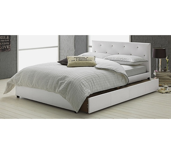 buy hygena imelda small double 1 drawer bed frame white at