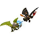 more details on Toothless & Hiccup vs Armoured Dragon.