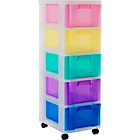 more details on Really Useful 5 Drawer Tower Storage Unit - Multicoloured.