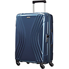 more details on American Tourister Vivotec Spinner Medium Suitcase - Navy.