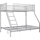 more details on Silver Metal Triple Bunk Bed Frame with Dylan Mattress.