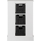 more details on Dover Open Storage Unit with 3 Baskets - White.