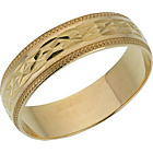 more details on 9ct Gold Diamond Cut Wedding Ring.