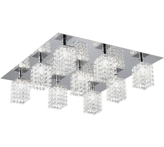 Crystal Wall Lights Argos : Buy Eglo Pyton 9 Point Crystal Ceiling Light at Argos.co.uk - Your Online Shop for Ceiling and ...
