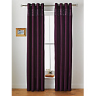 more details on Inspire Sparkle Lined Curtains - 168 x 183cm - Plum.
