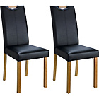 more details on Pair of Black Midback Dining Chairs.