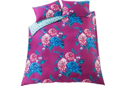 HOME Liberty Plum Bold Floral Bedding Set - Double.