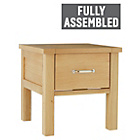 more details on Heart of House Oxley 1 Drawer End Table - Solid Oak.