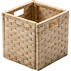 more details on HOME Water Hyacinth Cubed Storage Basket - Small Weave.