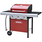 more details on Outback Apollo 3 Burner Gas BBQ - Red - Express Delivery.