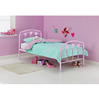 more details on Hearts Pink Single Bed Frame with Bibby Mattress.