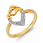 more details on 9ct Gold Plated Sterling Silver Mother and Child CZ Ring.