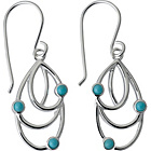 more details on Ardanti Sterling Silver & Turquoise Stone Bead Drop Earrings