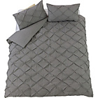 more details on Heart of House Caesar Grey Pintuck Bedding Set - Double.