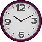 more details on ColourMatch Purple Fizz Cased Wall Clock.