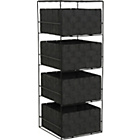 more details on ColourMatch 4 Drawer Storage Unit - Black.