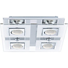 more details on Eglo Cabo 4 Point LED Square Ceiling Light.