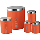 more details on ColourMatch 5 Piece Storage Set - Coral.