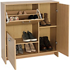 more details on Shoe Storage Cabinet with 2 Cupboards - Oak Effect.