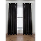 more details on Inspire Sparkle Lined Curtains - 168 x 183cm - Black.