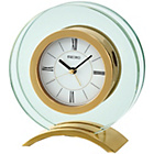 more details on Seiko Round Gold Coloured Glass Mantel Clock.