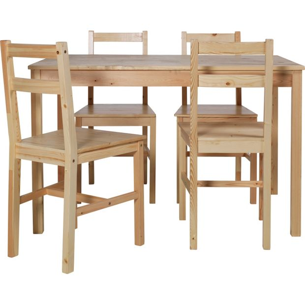 buy home raye solid wood dining table and 4 chairs. Black Bedroom Furniture Sets. Home Design Ideas