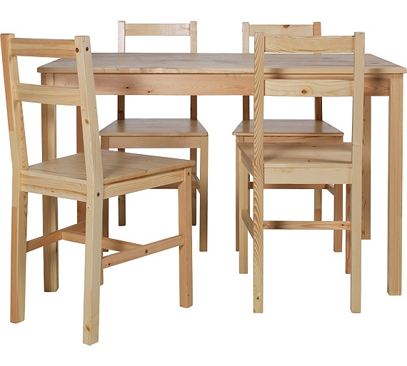 Solid Wood Dining Table 4 Chairs: Buy HOME Raye Solid Wood Dining Table And 4 Chairs