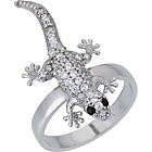 more details on Sterling Silver Cubic Zirconia Lizard Ring.
