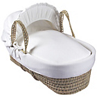 more details on Clair de Lune Cotton Candy Palm Moses Basket - White.