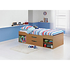 more details on Shelby Single Beech Cabin Bed Frame with Ashley Mattress.