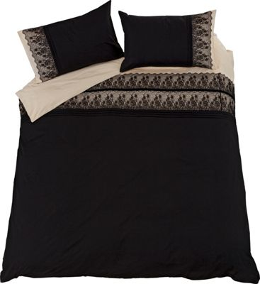 Buy Collection Black Chantilly Lace Bedding Set Double