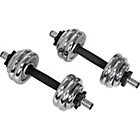 more details on Pro Fitness Chrome Dumbbell Set - 15kg.