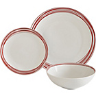 more details on ColourMatch Scratch 12 Piece Porcelain Dinner Set - Red.