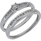 more details on 9ct White Gold 0.25ct Diamond Bridal Ring Set.