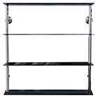 more details on Wide Glass Shelving Unit - Black.