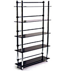 more details on 5 Tier Media Display Shelves - Black.