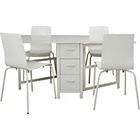 more details on Butterfly Extendable Dining Table and 4 Stacking Chairs.
