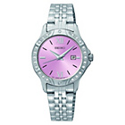 more details on Seiko Ladies' Pink Dial Stainless Steel Bracelet Watch.