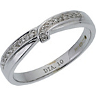 more details on 9ct White Gold Diamond Set Twist Wedding Ring.