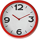 more details on ColourMatch Poppy Red Cased Wall Clock.