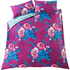 more details on Liberty Plum Bold Floral Bedding Set - Kingsize.