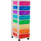 more details on Really Useful 8 Drawer Tower Storage Unit - Multicoloured.