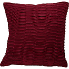 more details on Heart of House Madison Pleated Satin Cushion - Cranberry.