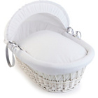 more details on Clair de Lune Waffle White Wicker Basket - White.