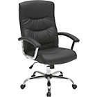 more details on Sydney Gas Lift Leather Faced Office Chair - Black.