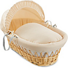 more details on Clair de Lune Waffle Natural Wicker Moses Basket - Cream.